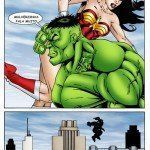 Hulk comendo o cuzinho da Mulher-Maravilha - Foto 9