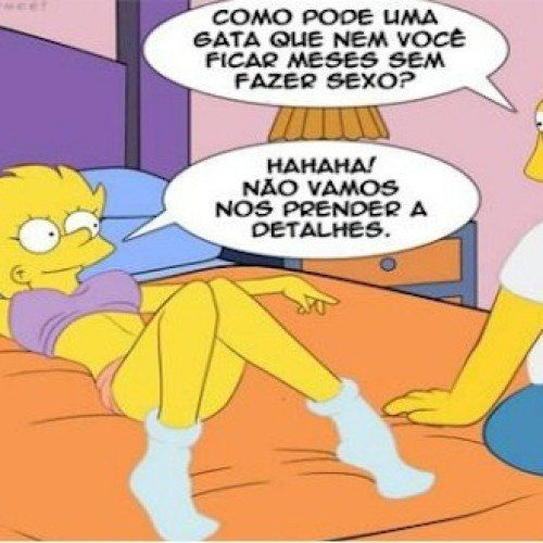 Quadrinho erótico Os Simpsons – Velhos hábitos