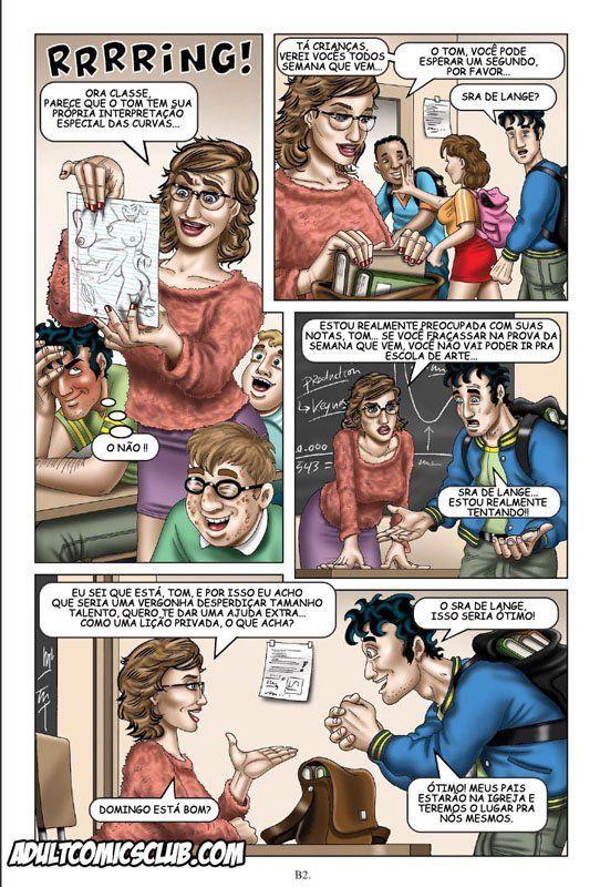 Fantasias sexuais de um adolescente - Quadrinhos porno - Foto 2