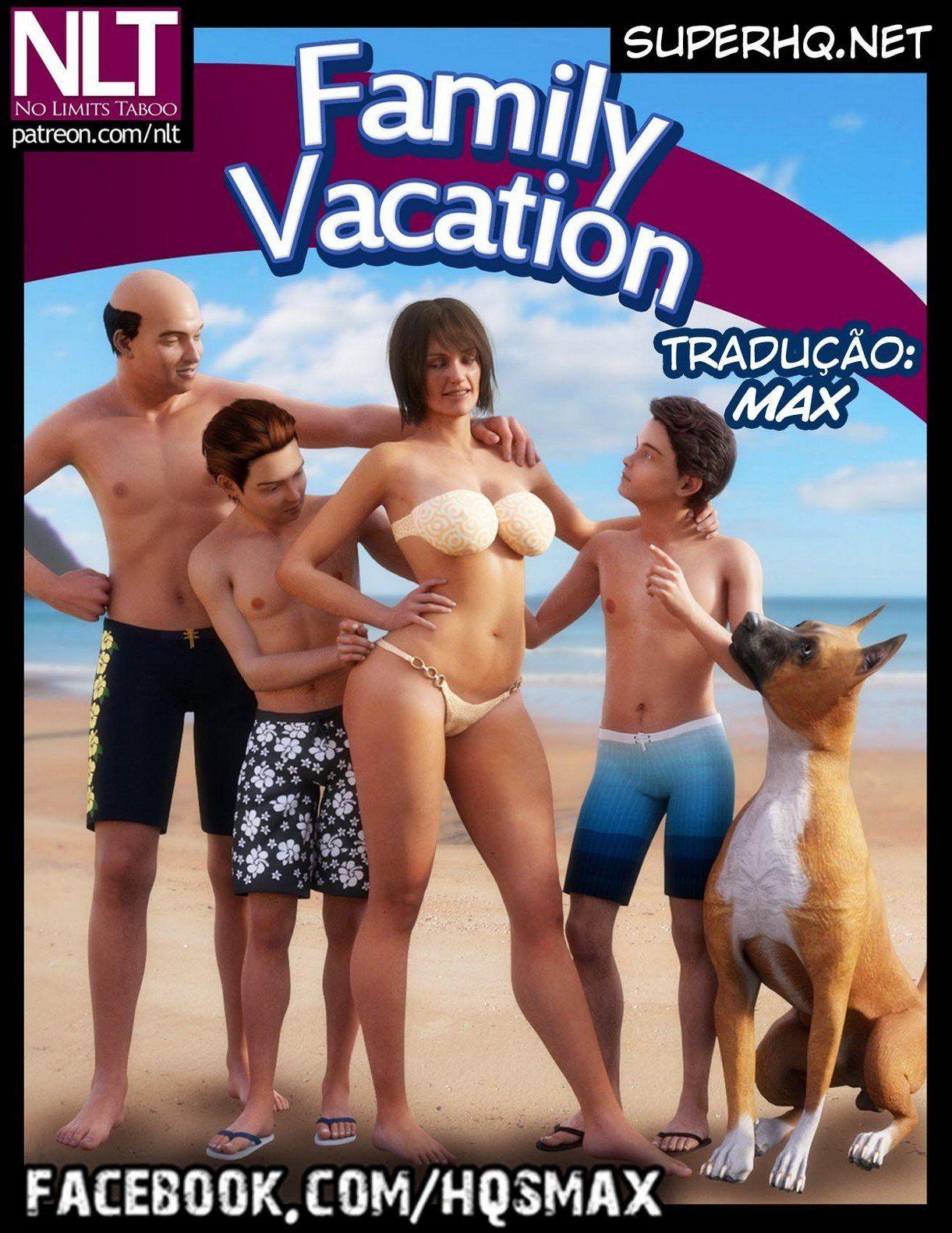 Quadrinhos porno de férias da família incestuosa