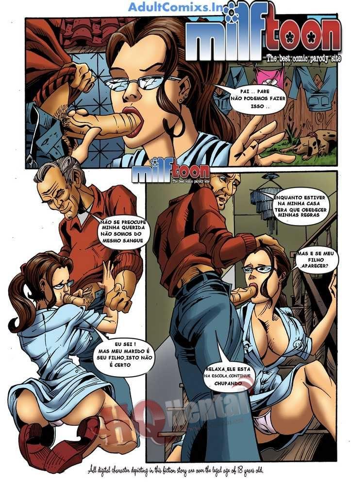 Milftoon Quadrinho porno Incesto mãe e filho
