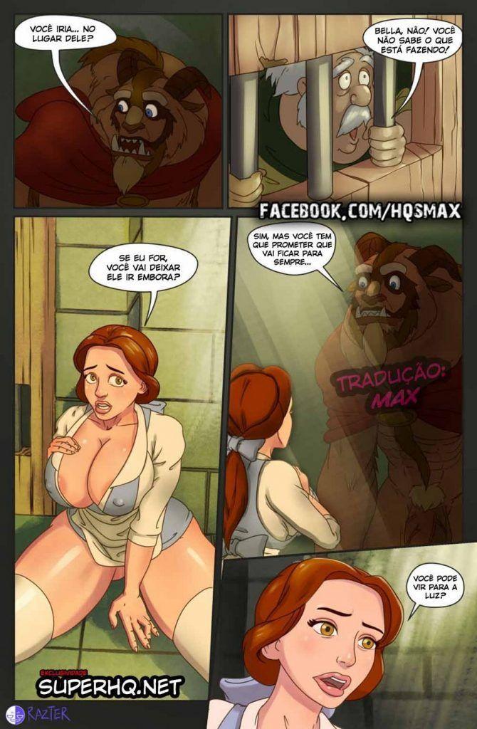 A Bela e a Fera - HQ de sexo