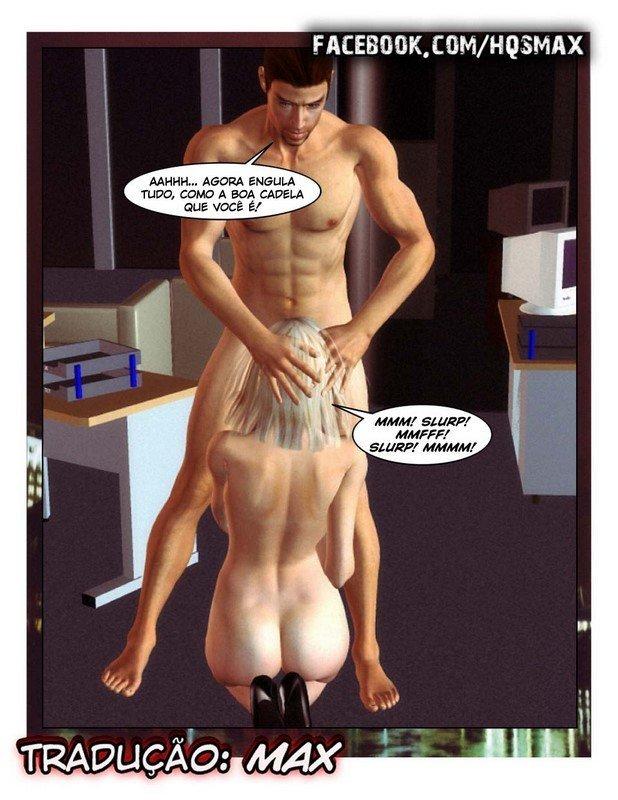 Hentai 3D - Chantageando a chefe gostosa