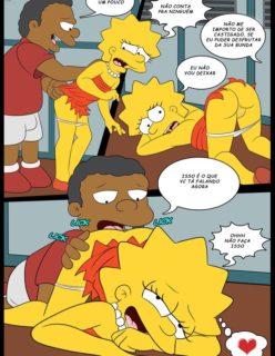 Os Simpsons porno Lisa e marge sendo fodidas por menino - Foto 3