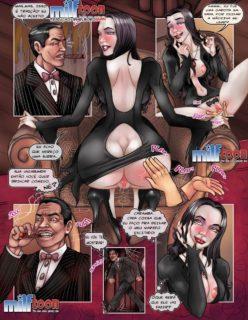 Quadrinho Erotico Milftoon A Família Addams - Foto 2