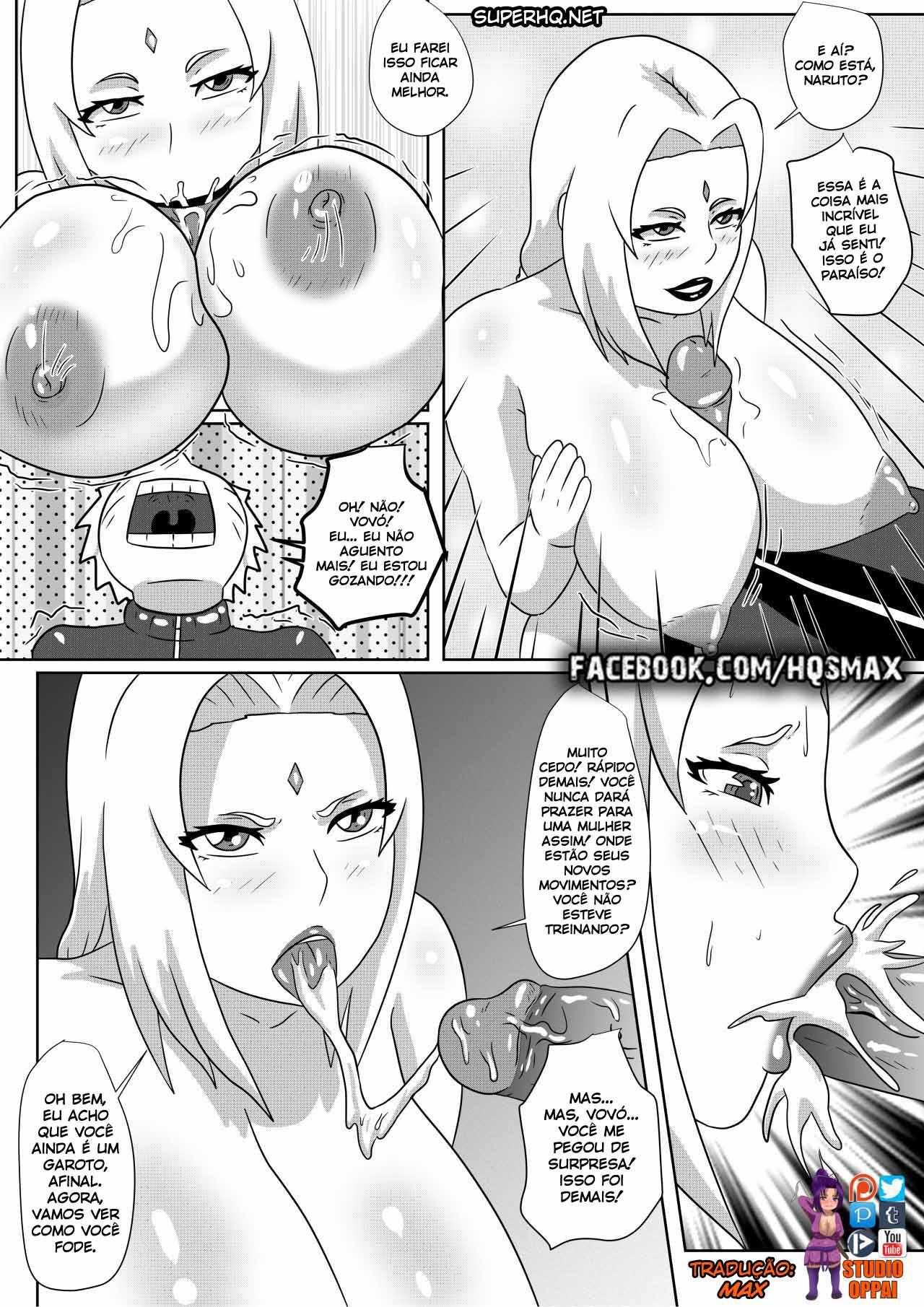Naruto X Tsunade - Quadrinho Hentai