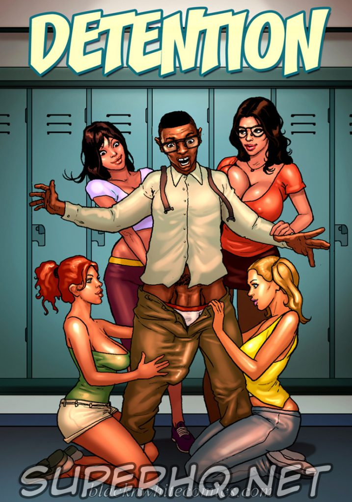 Detention 1– Quadrinho porno Inter-Racial