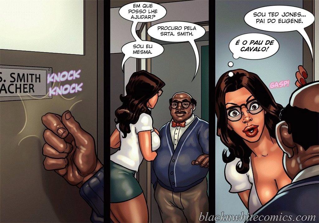 Detention 2 – Quadrinho porno Inter-Racial